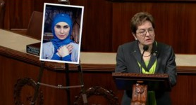 US Congresswoman Kaptur pays tribute to murdered Ukrainian volunteer Amina Okueva, slams Russia for aggression. VIDEO