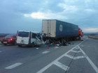 Eight killed in car accident as minibus hits truck in Mykolaiv region. PHOTOS